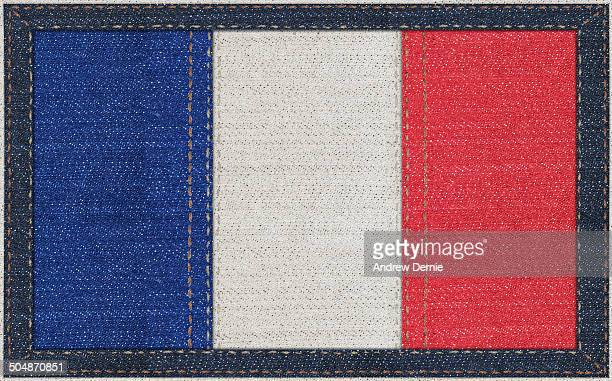 French flag in denim