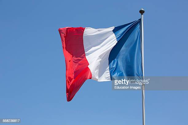 French Flag In The Wind Grimaud France