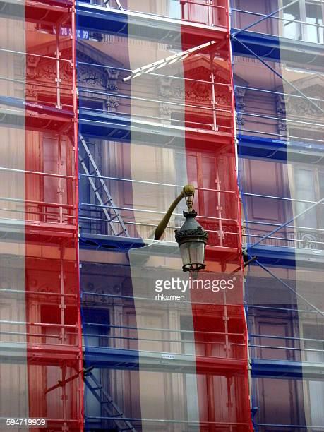French flag safety net, Lyon, France