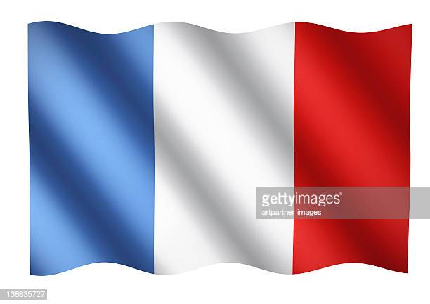 French flag waving or National Flag of France