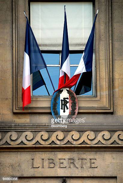 French flags hang outside the Palais de Justice law courts in Paris France on Thursday Nov 22 2007 France has one lawyer for every 2461 French people...