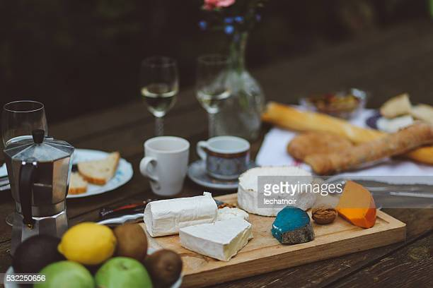 Cuisine française sur la tableau en bois