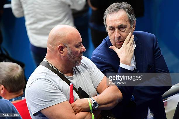 French football agent Jean Pierre Bernes and Gerald Gignac father of Andre Pierre Gignac of France during the UEFA Euro 2016 Quarter Final between...