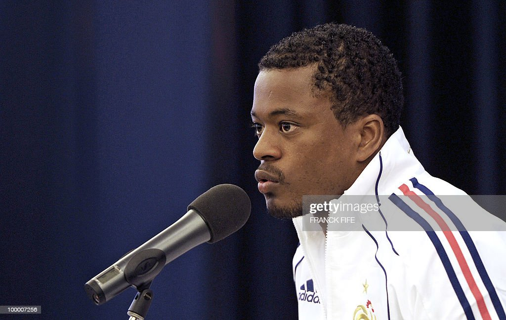 French football defender Patrice Evra sp