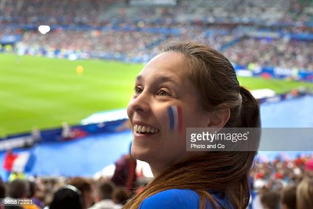 French football fan at Stadium