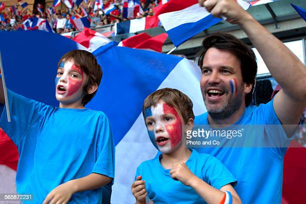 French football fans at Stadium