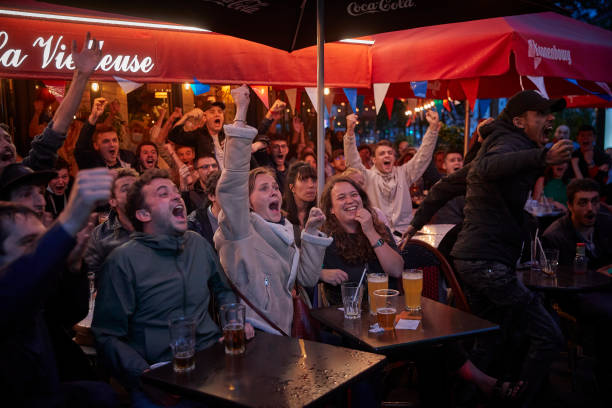 FRA: French Football Fans Support Team In Euro 2020 Game Against Switzerland