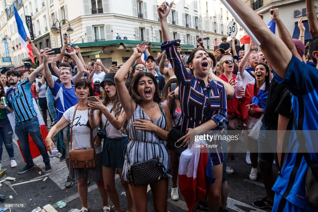Fans Celebrate France Winning The World Cup 2018 Final Against Croatia