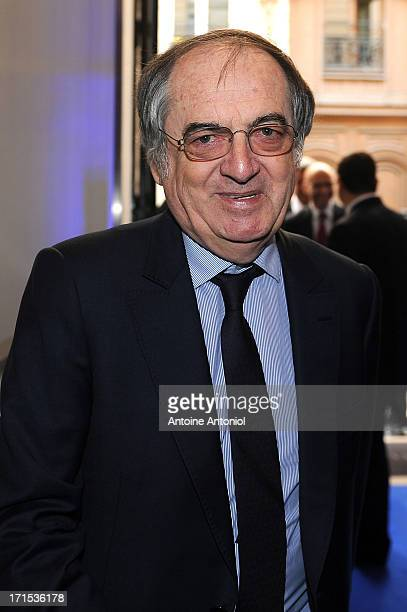 French Football Federation President Noel le Graet arrives at the EURO 2016 Logo Slogan Launch on June 26 2013 in Paris France