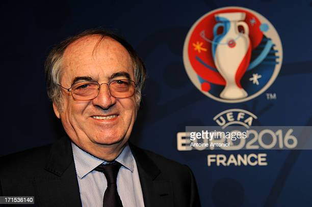 French Football Federation President Noel le Graet attends the EURO 2016 Logo Slogan Launch on June 26 2013 in Paris France