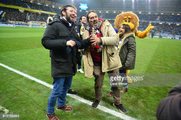 French football journalist Didier Roustan before the French Cup match between Sochaux and Paris Saint Germain at Stade Auguste Bonal on February 6...