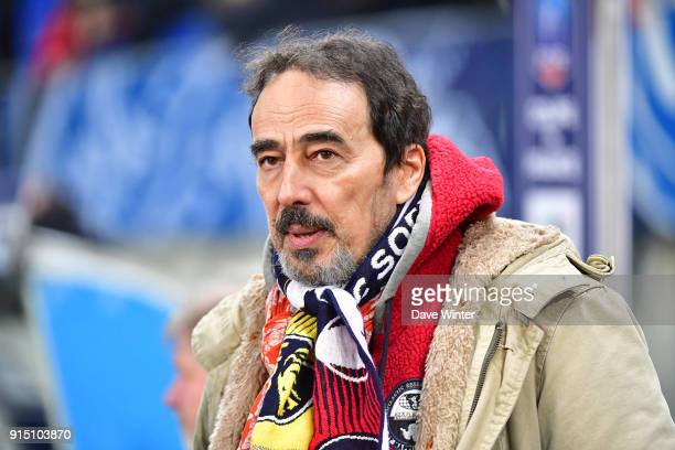 French football journalist Didier Roustan during the French Cup match between Sochaux and Paris Saint Germain at Stade Auguste Bonal on February 6...