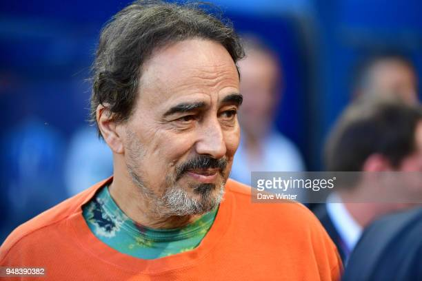 French football journalist Didier Roustan during the French Cup Semi Final match between Caen and Paris Saint Germain on April 18 2018 in Caen France