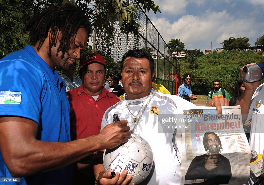 French football player Christian Karembe : News Photo