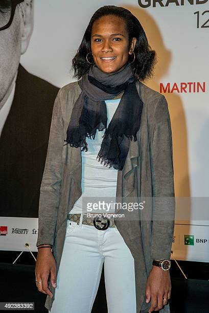 French football team captain Wendie Renard attends the Opening Ceremony of the 7th Film Festival Lumiere on October 12 2015 in Lyon France