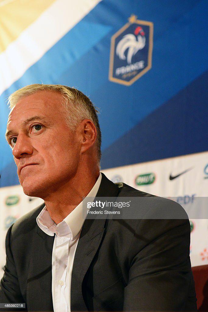 French Soccer Head Coach Didier Deschamps Gives A Press Conference In Paris : News Photo