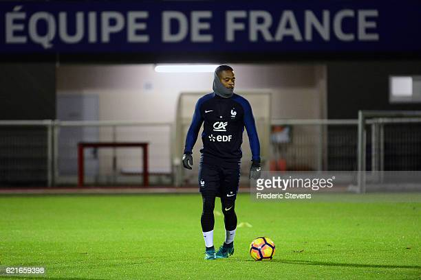 French Football Team defender Patrice Evra during the training session on November 7 2016 in Clairefontaine France The first training ahead of the...