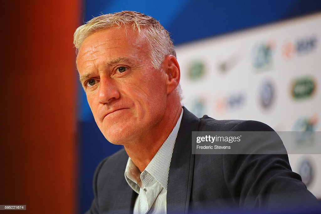 France Head Coach Didier Deschamps Gives A Press Conference : News Photo