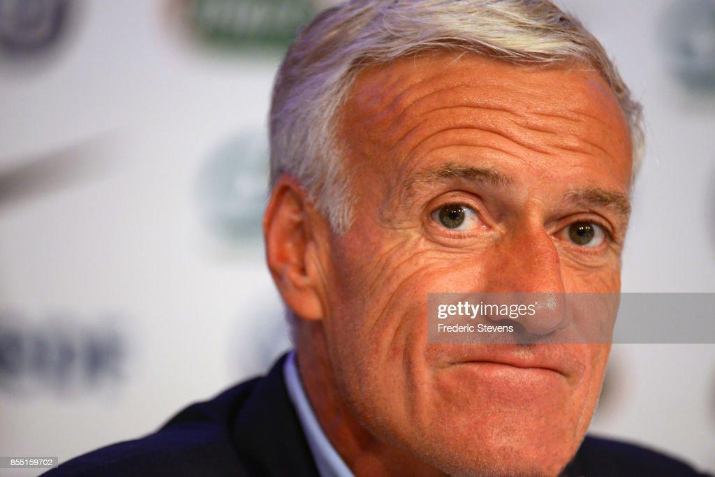Didier Deschamps - Press Conference : Nachrichtenfoto