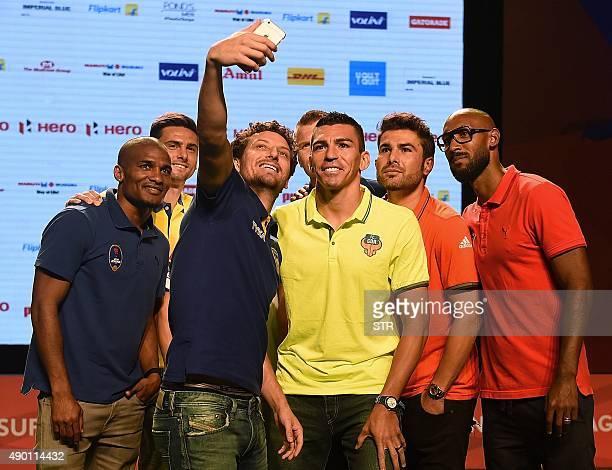 French footballer and Delhi Dynamos FC player Florent Malouda Portuguese footballer and Atletico de Kolkata striker Helder Postiga Brazilian...