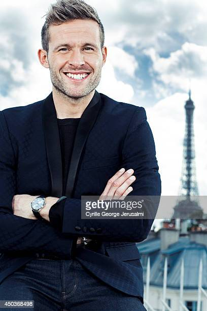 French footballer Yohan Cabaye is photographed for Gala on May 9 2014 in Paris France