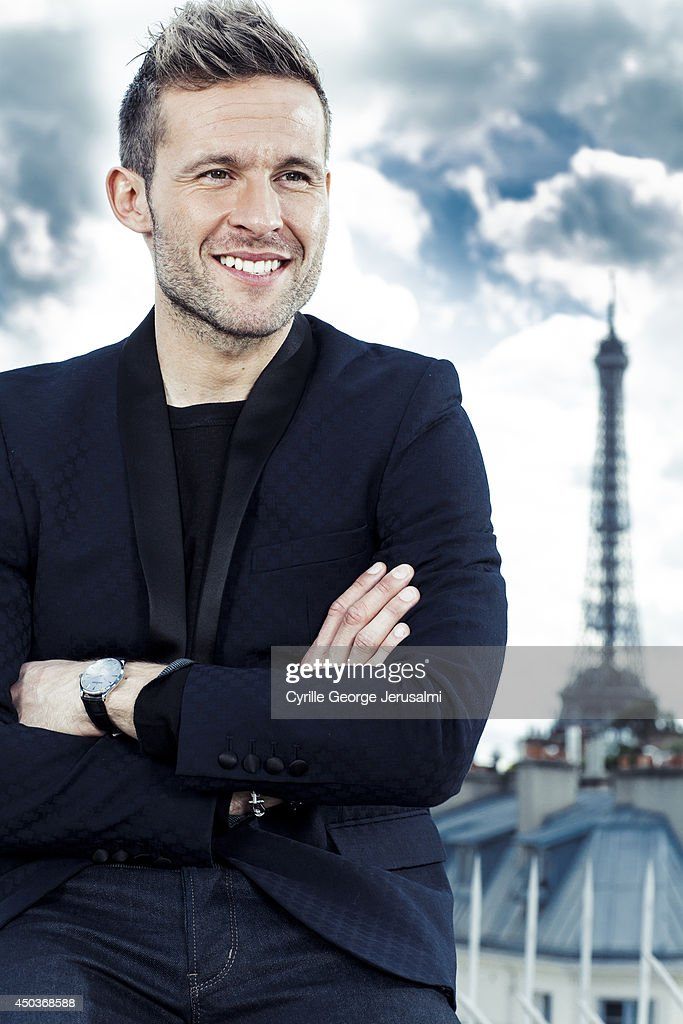 French footballer Yohan Cabaye is photographed for Gala on May 9, 2014 in Paris, France.