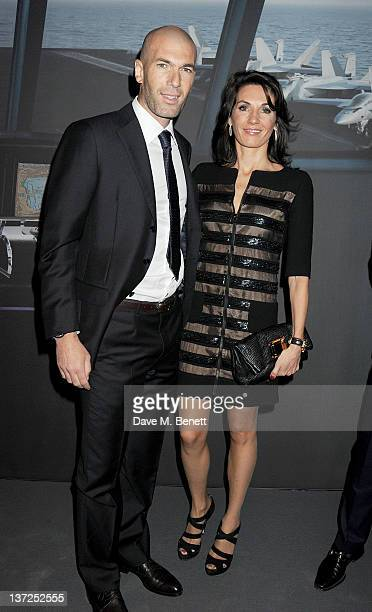 French footballer Zinedine Zidane and wife Veronique Zidane attend the IWC Top Gun Gala Event at 22nd SIHH High Jewellery Fair on at the Palexpo...