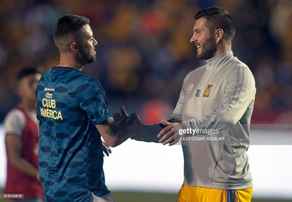 French footballers andre pierre gignac r of tigres and jeremy french footballers andre pierre gignac r of tigres and jeremy menez of america greet m4hsunfo