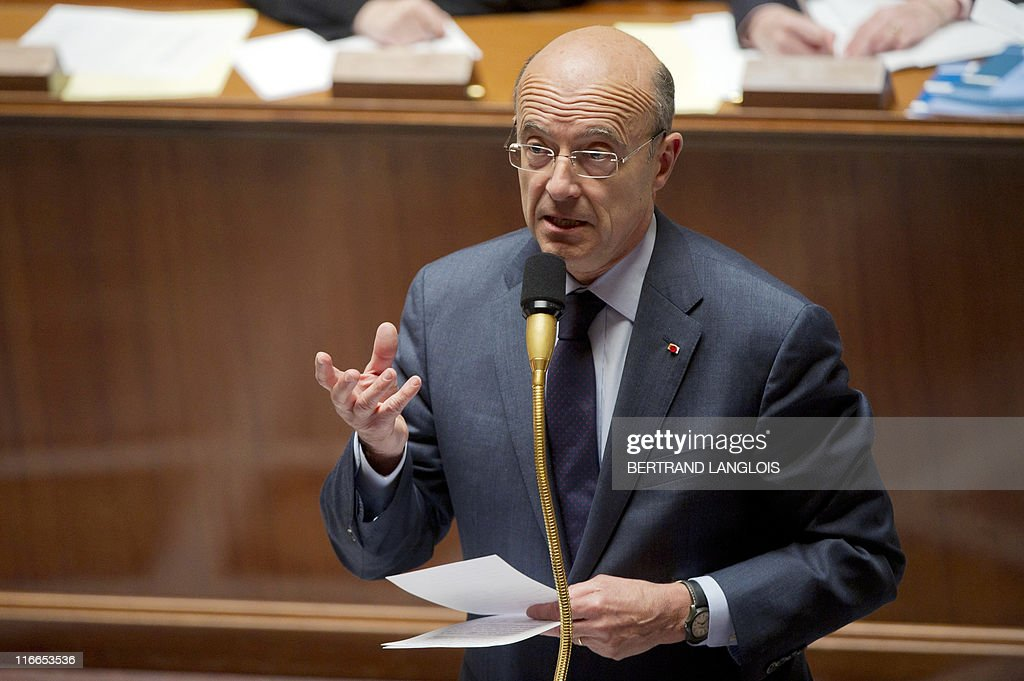 French Foreign Affairs minister Alain Ju : News Photo