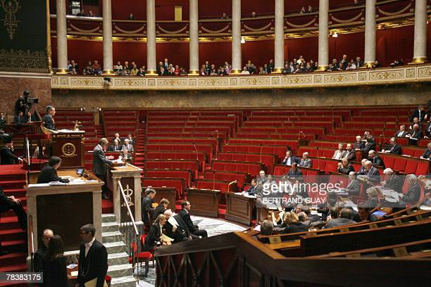 French Foreign Affairs minister Bernard Kouchner delivers a speech on European Affairs 11 December 2007 at the French National Assembly in Paris...