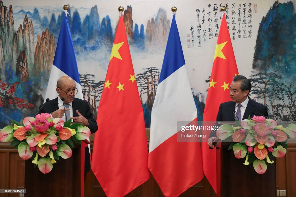French Foreign Minister Jean-Yves Le Drian Visits China