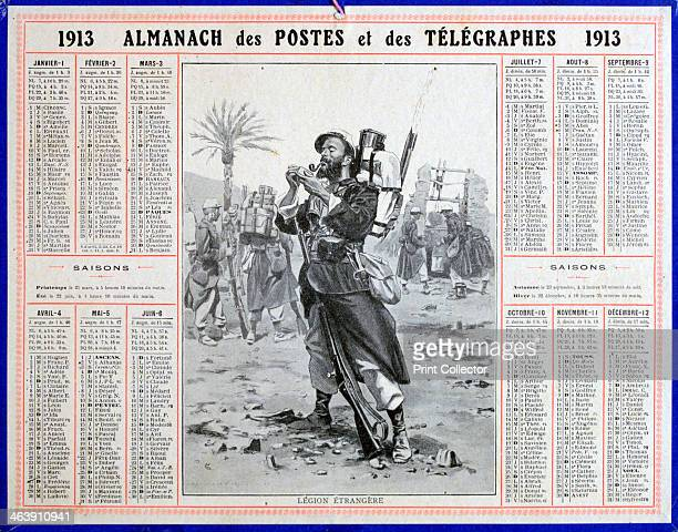 French Foreign Legion 1913 From the Almanac of the Postal and Telegraph Service 1913