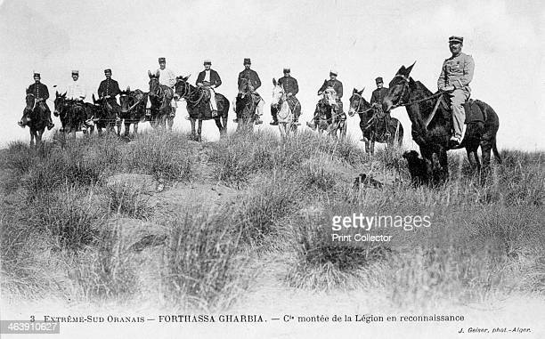 French Foreign Legion Cavalry Forthassa Gharbia Algeria c1905 French postcard