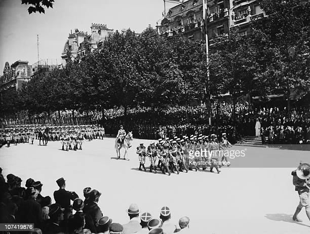 French Foreign Legion For July 14Th Parade At Champs Elysees In Paris On 1939