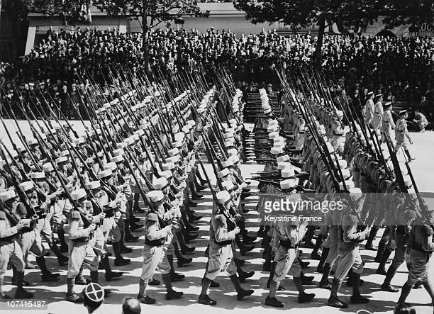 French Foreign Legion Parade In Paris On July 14Th 1939