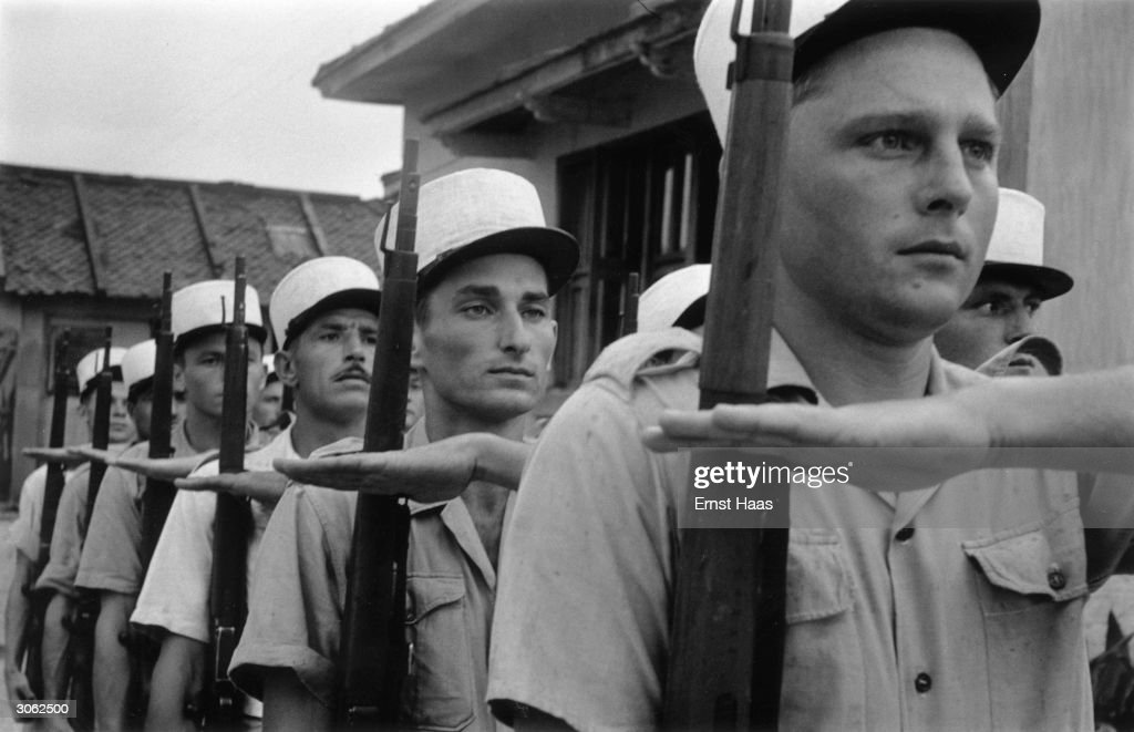 French Foreign Legion soldiers on parade.