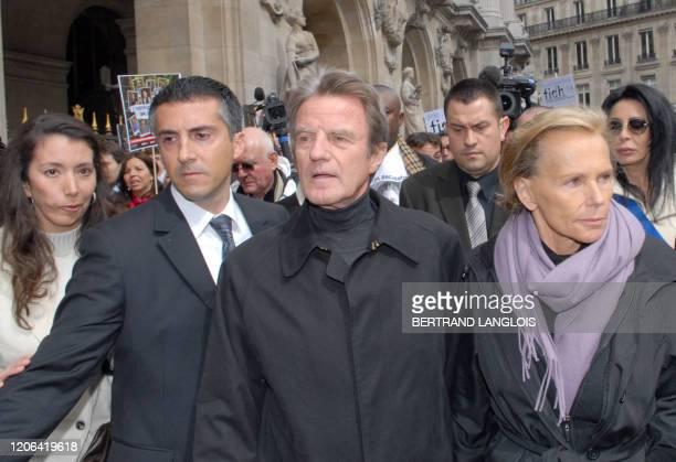 French Foreign minister Bernard Kouchner , Astrid Betancourt , sister of French-Colombian hostage Ingrid Betancourt and Christine Ockrent , one of...
