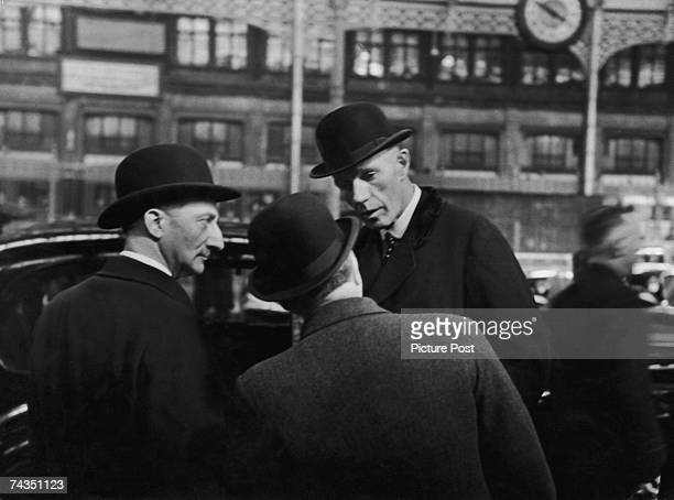 French Foreign Minister Georges Bonnet with British Foreign Secretary The Viscount Halifax in Geneva, where Halifax is discussing the Anglo-Soviet...