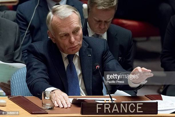French Foreign Minister JeanMarc Ayrault addresses the Security Council The United Nations Security Council convened an emergency meeting to consider...