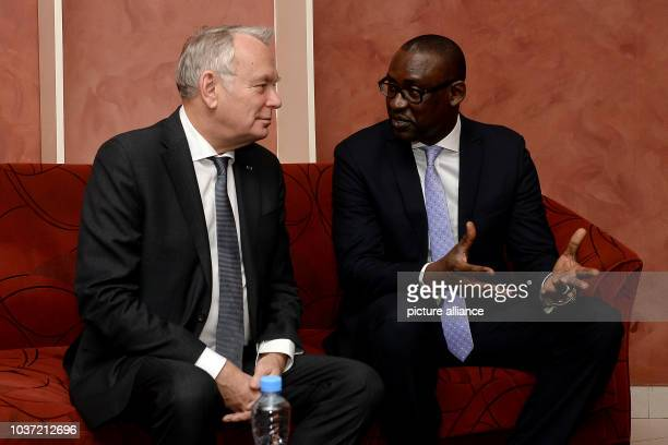 French foreign minister JeanMarc Ayrault and his Malian counterpart Abdoulaye Diop talk inBamako Mali 02 May 2016 Germany and France have pledged to...