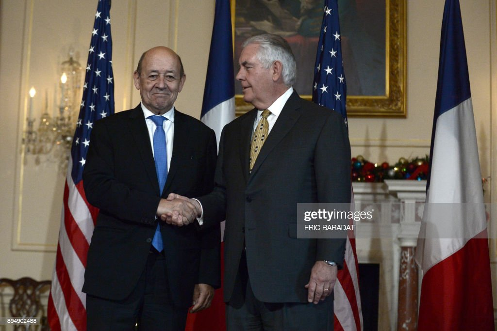 Rex Tillerson Meets With French Foreign Minister At State Department