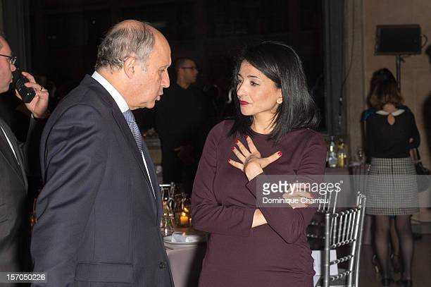 French Foreign Minister Laurent Fabius and Former Minister and member of the French Council of State Jeannette Bougrab attend the annual gala evening...