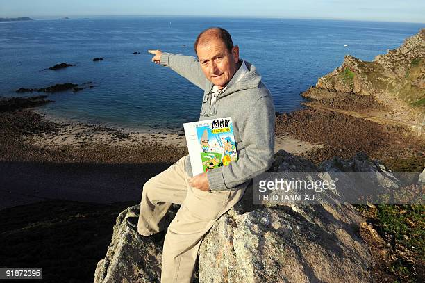 French former bookseller JeanPierre Allain shows rocks which are similar to those drawn by Albert Uderzo from the first Asterix comic book on October...