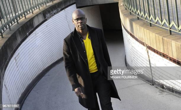 French former football player Lilian Thuram session portrait on February 29 2012 in Paris Francehe creates the Lilian Thuram Foundation Education...