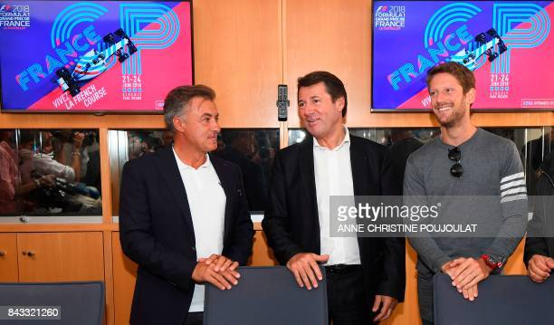 French former Formula One driver Jean Alesi Nice's mayor and managing director of the public interest group 'Grand Prix de France Le Castellet'...