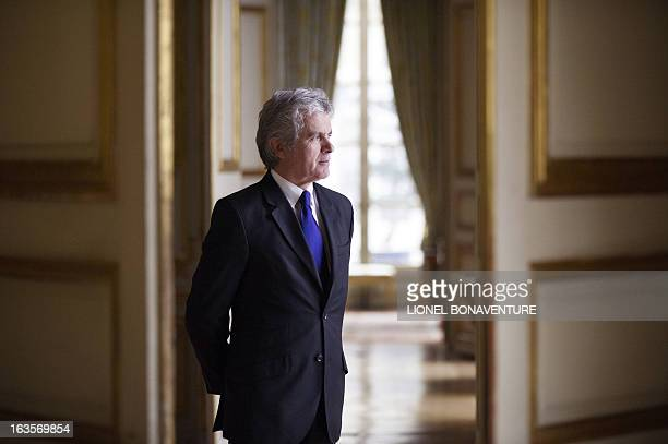 French former journalist and newly appointed French President's communication adviser, Claude Serillon, poses on March 12, 2013 at the Elysee...