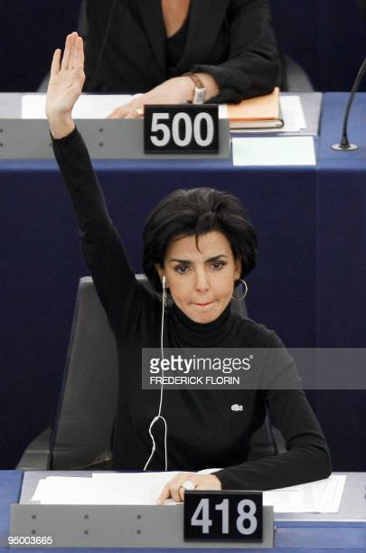 French former Justice Minister and European MP Rachida Dati votes on December 15 2009 during the session at the European Parliament in Strasbourg...