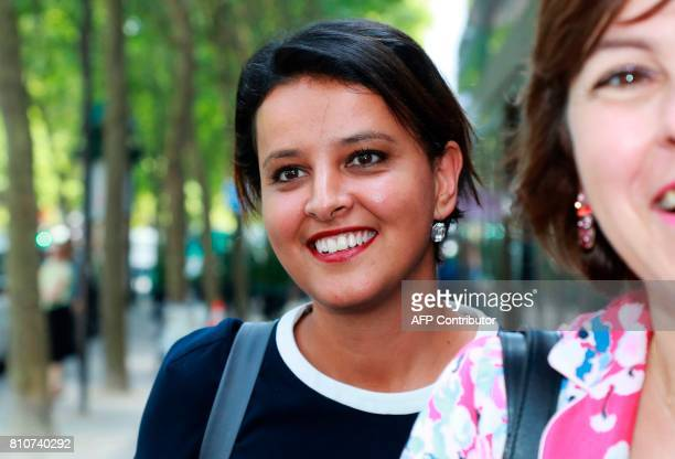 French former minister and member of the French Socialist Party Najat VallaudBelkacem arrives to attend a PS national council on July 8 in Paris The...