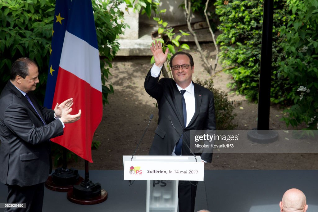 French Former President Francois Hollande Goes To French Socialist Party  Headquarters In Paris