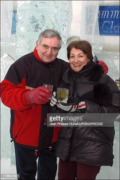 French former prime minister Jean-Pierre Raffarin visits Quebec, Canada on February 25, 2006- On this picture: Jean-Pierre Raffarin and his wife,...